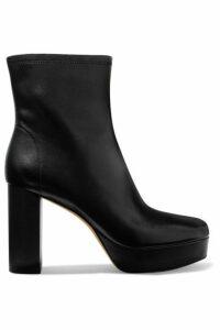 Diane von Furstenberg - Yasmine Leather Platform Ankle Boots - Black