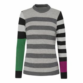 INGMARSON - Colour Block Striped Jumper Women
