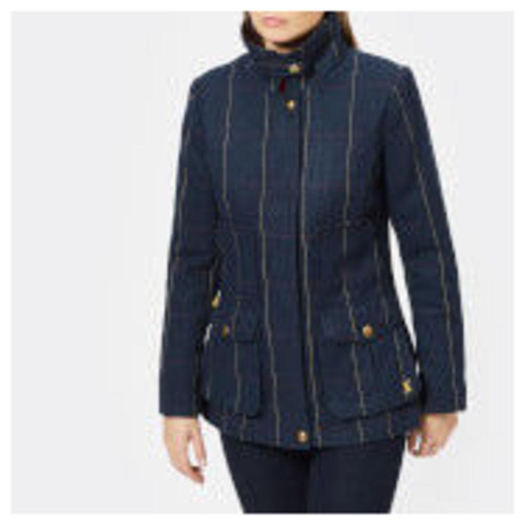 Joules Women's Teed Fieldcoat - Navy Tweed - UK 14 - Navy