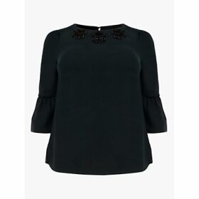 Studio 8 Leonie Beaded Top, Pine Green