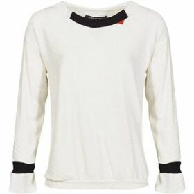 Mado Et Les Autres  Long sleeves diagonal sweatshirt  women's Blouse in White