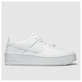 Nike White Air Force 1 Sage Low Trainers