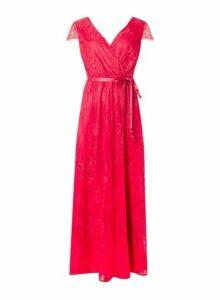 Womens 'Showcase Fuchsia 'Isla' Lace Maxi Dress - Red, Red