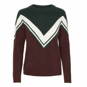 Noisy May Bow Chevron Knit Jumper