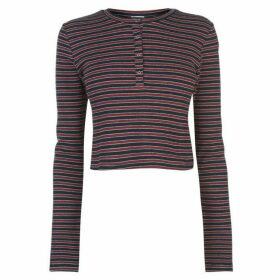 Juicy Stripe Crop Top - Regal/Claret