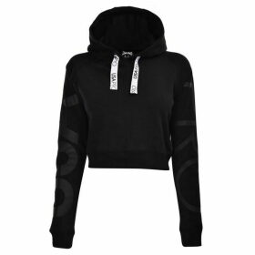 USA Pro Crop Hoodie Ladies - Black