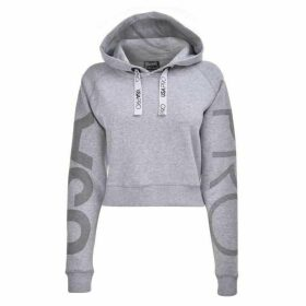 USA Pro Crop Hoodie Ladies - Grey