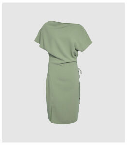 Reiss Marcia - Waist Detail Dress in Pale Green, Womens, Size 16