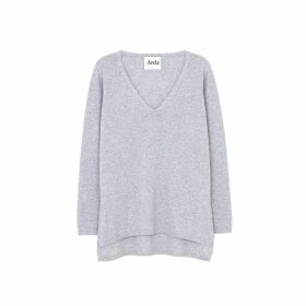 Arela Vija Cashmere Sweater In Light Grey