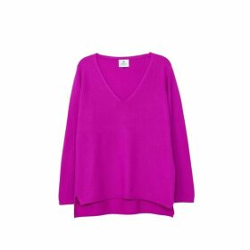 Arela Vija Cashmere Sweater In Bright Pink