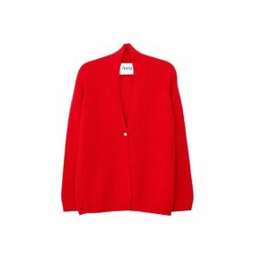 Arela Suzann Cashmere Cardigan In Red