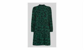 Deco Floral Print Shirt Dress