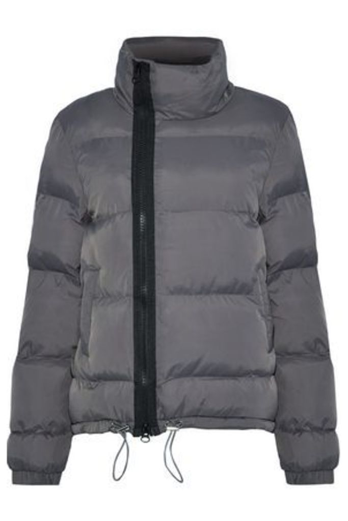 W118 By Walter Baker Woman Corinne Quilted Shell Jacket Gray Size L