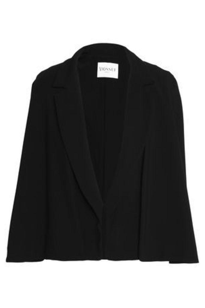 Vionnet Woman Cape-effect Appliquéd Crepe Jacket Black Size 40