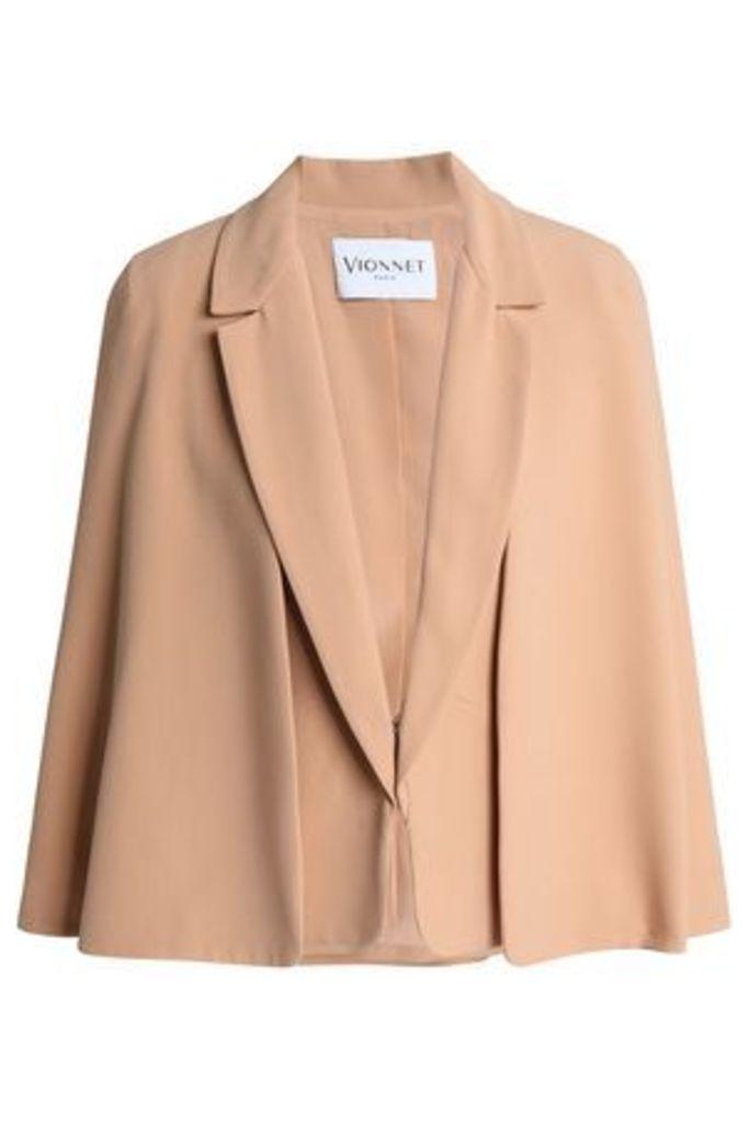 Vionnet Woman Cape-effect Crepe Jacket Beige Size 46