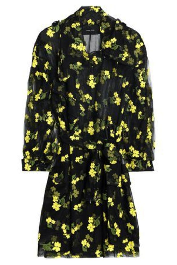 Simone Rocha Woman Embroidered Cotton-blend Tulle Jacket Black Size 8