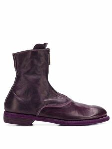 Guidi zipped front ankle boots - Purple