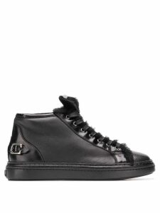 AGL faux fur trimmed hi-top sneakers - Black