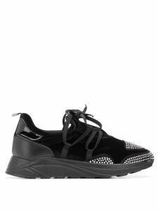 Blumarine crystal embellished sneakers - Black