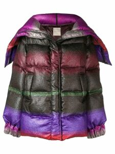 Marco De Vincenzo multicoloured short padded coat - Green