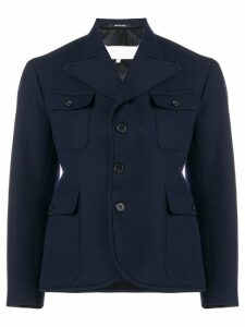 Maison Margiela fitted blazer - Blue