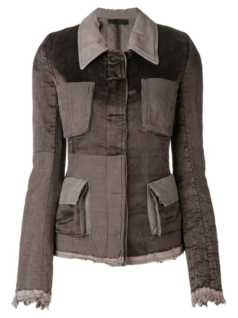 Haider Ackermann cupro regular padding jacket - Brown