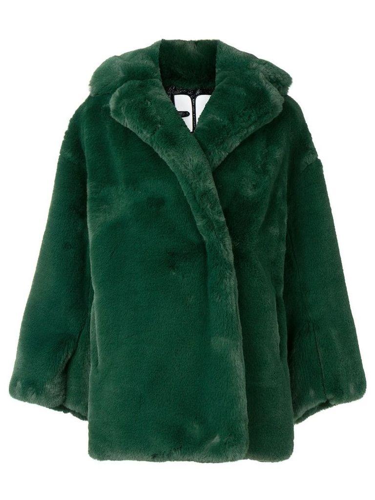 Courrèges faux fur oversized jacket - Green