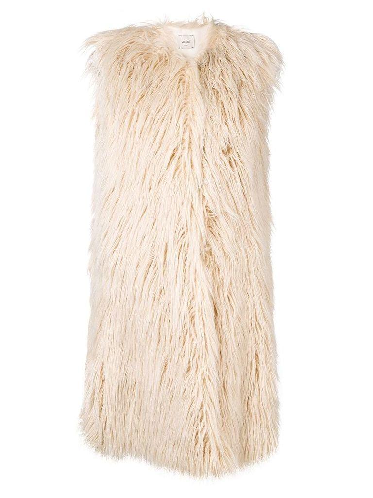 Alysi faux fur gilet - White