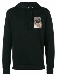 DUST printed hood sweatshirt - Black