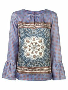 Le Sarte Pettegole embroidered long-sleeve blouse - Purple
