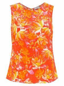 Isolda Shell silk top - Orange