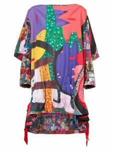 Comme Des Garçons flared printed blouse - Multicolour