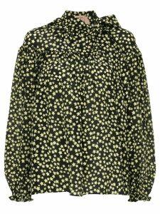 Nº21 Star bow ribbon blouse - Black