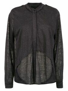 Andrea Bogosian linen shirt - Grey