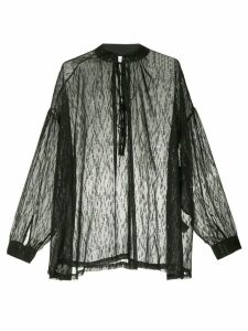 IRO oversized mandarin collar shirt - Black