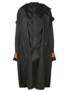 Off-White oversized hood coat - Black