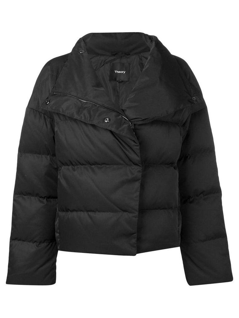 Theory cropped puffer jacket - Black