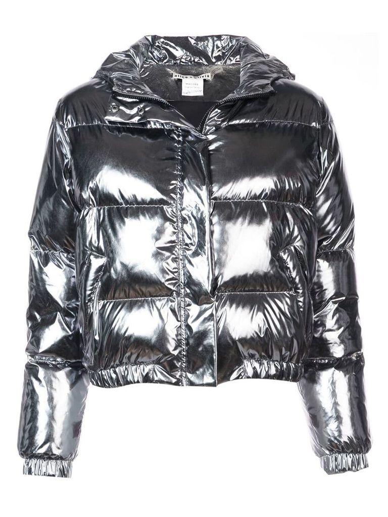 Alice+Olivia Durham padded jacket - Metallic
