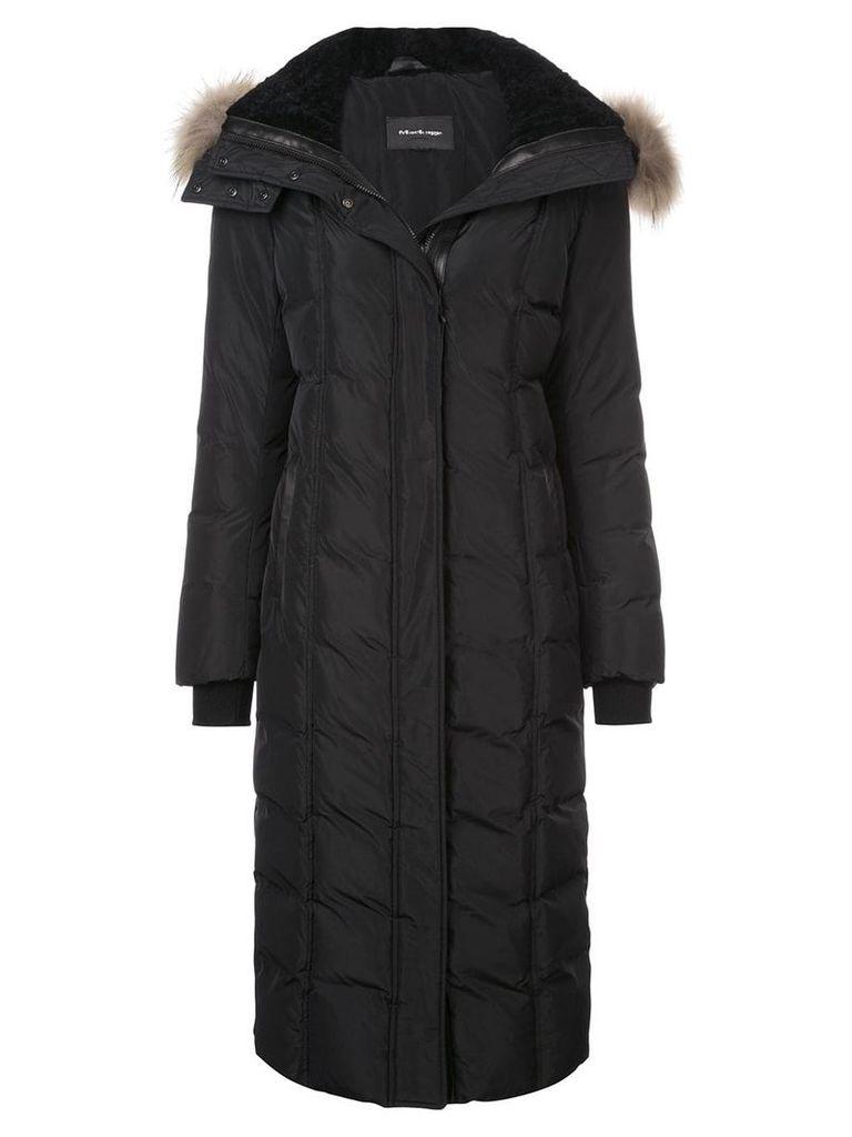 Mackage long fur hooded jacket - Black