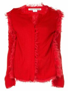 Comme Des Garçons distressed fitted cardigan - Red