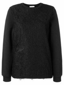 Nina Ricci lace-layered sweater - Black