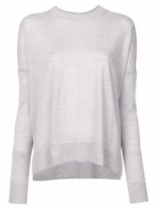 Derek Lam 10 Crosby Boxy Crewneck Sweater - Grey