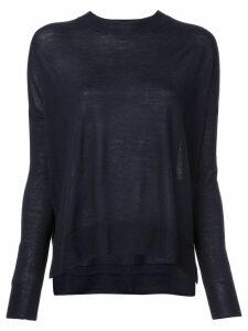 Derek Lam 10 Crosby Boxy crew neck Sweater - Blue