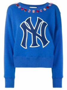 Gucci NY embellished sweater - Blue