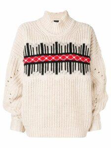 Isabel Marant chunky knit jumper - Neutrals