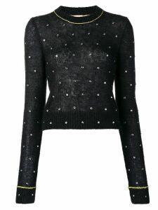 Nº21 embellished knit sweater - Black