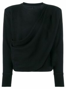 Unravel draped sweatshirt - Black
