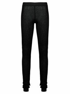 Ann Demeulemeester semi-sheer leggings - Black