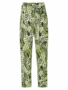 Andrea Marques printed straight trousers - Green