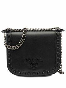 Prada Pionnière studded shoulder bag - Black